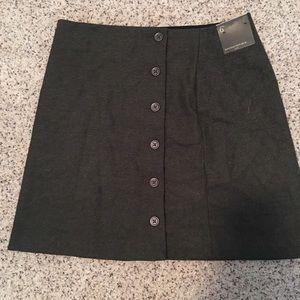 BP army green button mini skirt